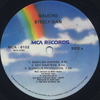 Steely Dan / Gaucho label