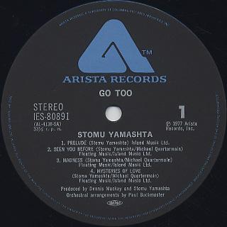 Stomu Yamashta's Go / Go Too label