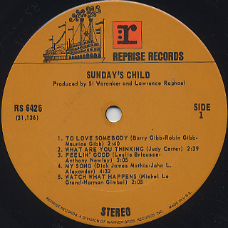 Sunday's Child / S.T. label