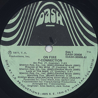 T-Connection / On Fire label