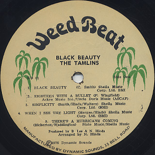 Tamlins / Black Beauty label