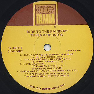 Thelma Houston / Ride To The Rainbow label