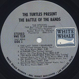 Turtles / Presents The Battle Of The Bands label
