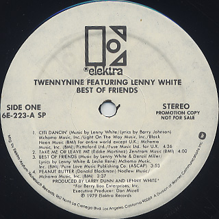 Twennynine featuring Lenny White / Best Of Friends label
