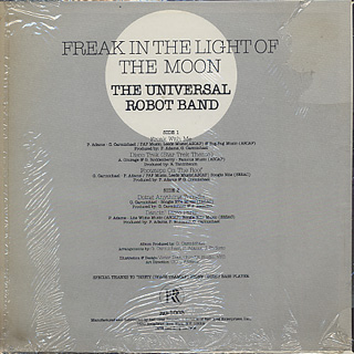 Universal Robot Band / Freak In The Light Of The Moon back
