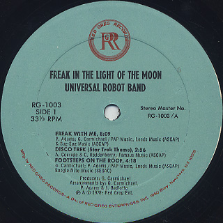 Universal Robot Band / Freak In The Light Of The Moon label