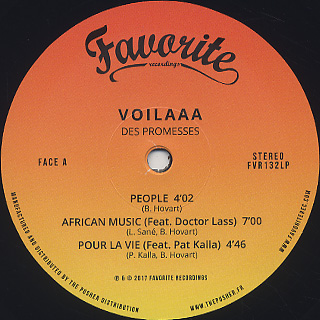 Voilaaa / Des Promesses label