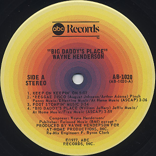 Wayne Henderson / Big Daddy's Place label