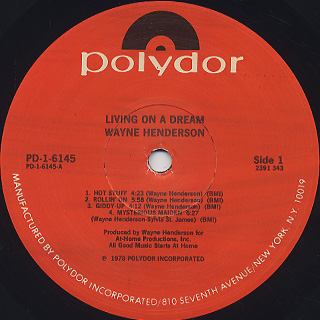 Wayne Henderson / Living On A Dream label