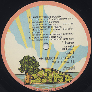White Noise An Electric Storm Lp Island Records 中古