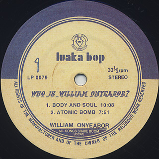 William Onyeabor / Who Is William Onyeabor? -3LP- label