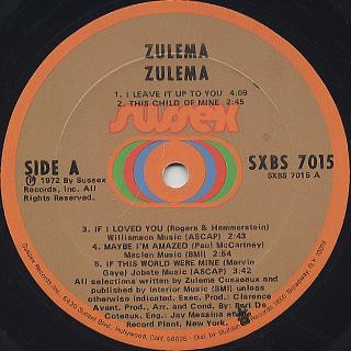 Zulema / S.T. label