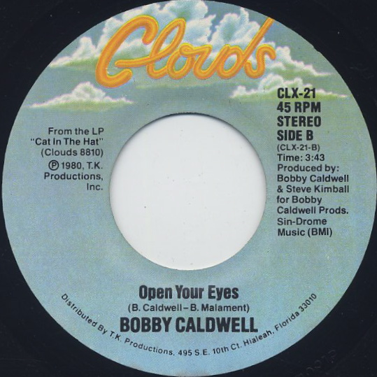 Bobby Caldwell / Open Your Eyes c/w Coming Down From Love back
