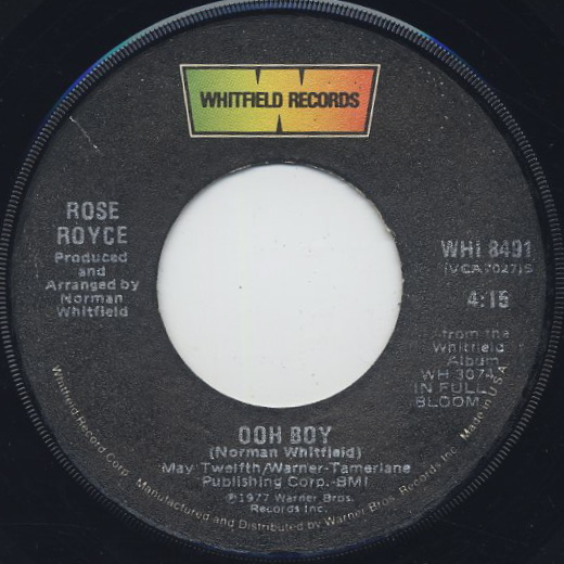 Rose Royce / Ooh Boy c/w You Can't Please Everybody front
