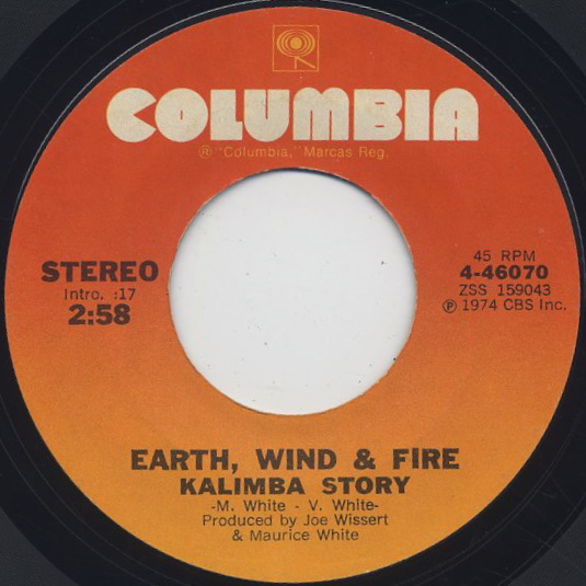 Earth, Wind & Fire / Kalimba Story c/w Tee Nine Chee Bit