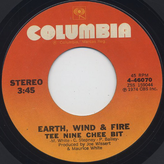 Earth, Wind & Fire / Kalimba Story c/w Tee Nine Chee Bit back