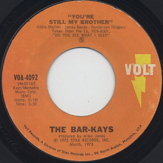 Bar-Kays / You're The Best Thing That Ever Happened To Me back