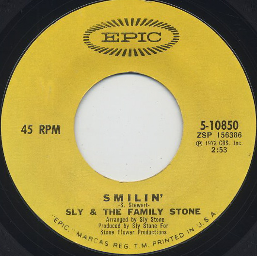 Sly And The Family Stone / Smilin' c/w Luv N' Haight