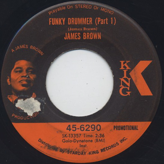 James Brown / Funky Drummer(Part I) c/w (Part II) front