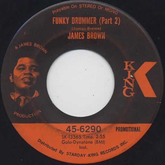 James Brown / Funky Drummer(Part I) c/w (Part II) back