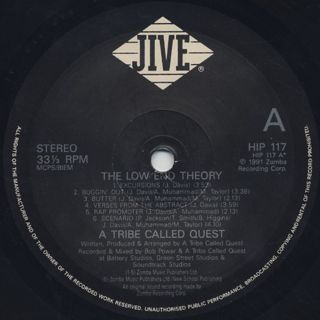 A Tribe Called Quest / The Low End Theory label