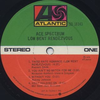 Ace Spectrum / Low Rent Rendezvous label