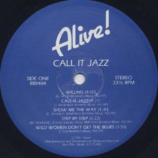 Alive! / Call It Jazz label
