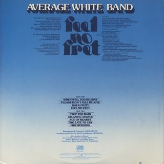 Average White Band / Feel No Fret back