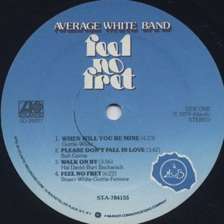 Average White Band / Feel No Fret label