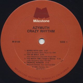 Azymuth / Crazy Rhythm label
