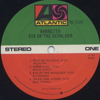 Barretto / Eye Of The Beholder label