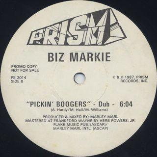 Biz Markie / Pickin' Boogers label