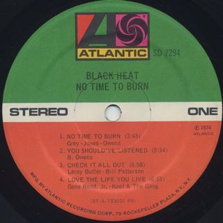 Black Heat / No Time To Burn label