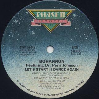 Bohannon / Let's Start II Dance Again