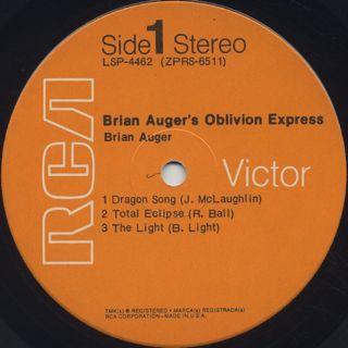 Brian Auger's Oblivion Express / S.T. label