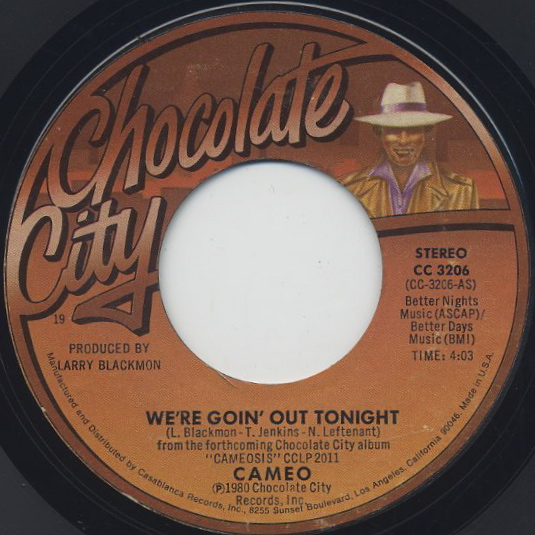 Cameo / We're Goin Out Tonight c/w On The One