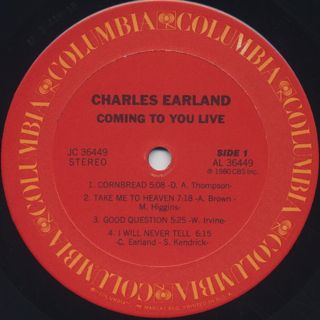 Charles Earland / Coming To You Live label