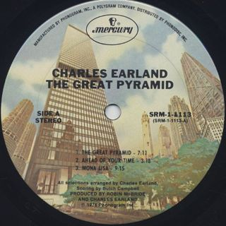 Charles Earland and Oddysey / The Great Pyramid label