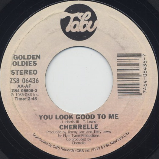 Cherrelle / You Look Good To Me c/w Saturday Love
