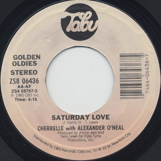Cherrelle / You Look Good To Me c/w Saturday Love back