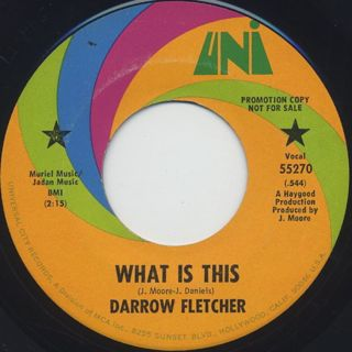 Darrow Fletcher / What Is This c/w Dolly Baby front