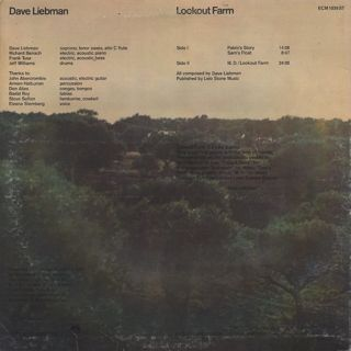 Dave Liebman / Lookout Farm back