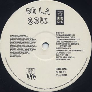 De La Soul / 3 Feet High And Rising label
