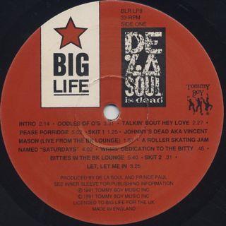 De La Soul / De La Soul Is Dead label