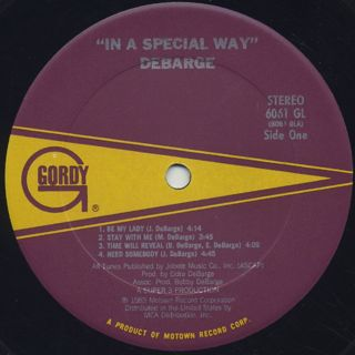 DeBarge / In A Special Way label