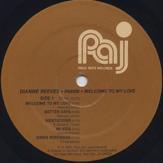 Dianne Reeves / Welcome To My Love label