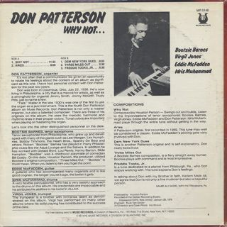 Don Patterson / Why Not... back