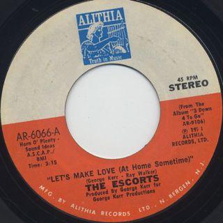 Escorts / Let's Make Love (At Home Sometime) back