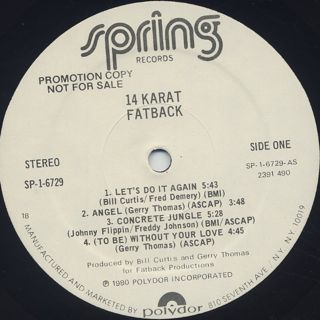 Fatback / 14 Karat label