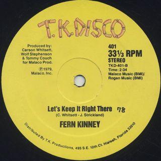 Fern Kinney / Groove Me label